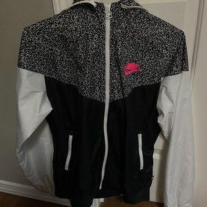 Nike cheetah print wind breaker